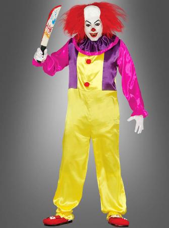 Böser Party Clown Herrenkostüm