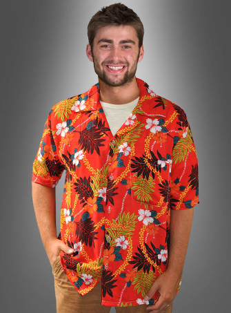 Hawaiian Shirt blossom orange