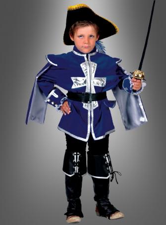 Kinder Musketierkostüm blau