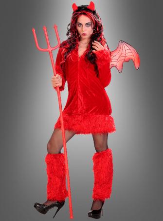Rotes Teufelkleid mit Stulpen