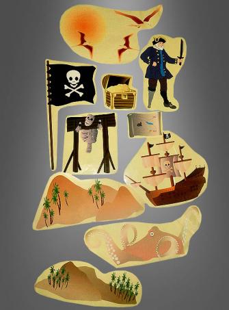 Riesige Aufkleber Piraten Dekoration