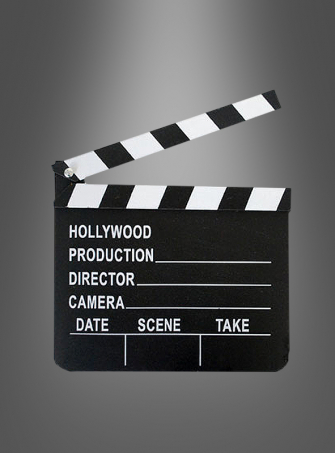 Filmklappe Hollywood Regisseur