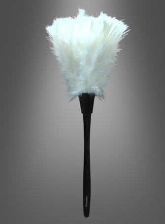 feather duster white