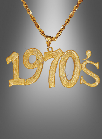 Disco Fever 1970s necklace