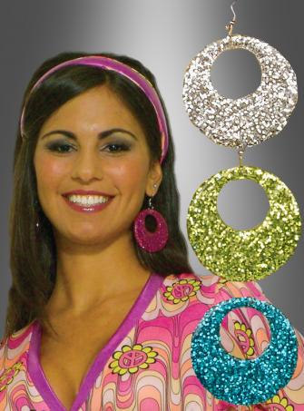 Glitter Ohrringe Mod 50er 60er Retro
