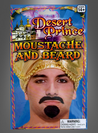 Desert prince beard and  moustache