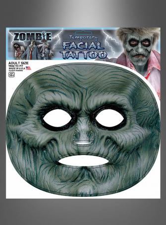 Zombie Gesichts-Tattoo Maske