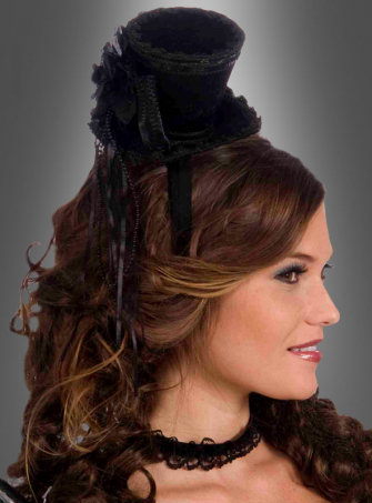 Black Mini Top Hat Burlesque