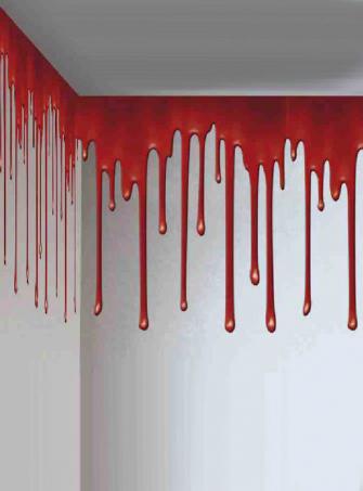 Blutige Wandbordüre Deko