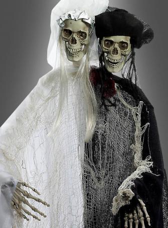 Brautpaar Skelett mit Lichteffekt 110 cm