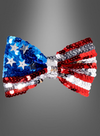 USA Sequin Bow Tie