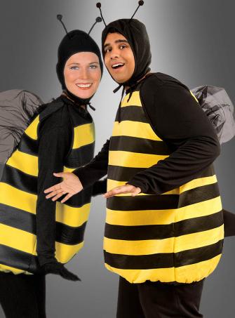 Klassisches Bienenkostüm XXL