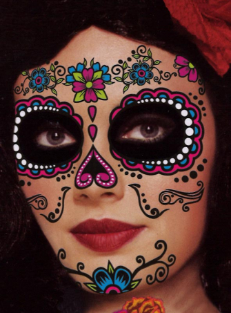 Sugar Skull Tattoo Makeup Damen