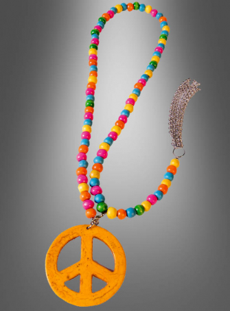 Wooden Peace Sign Necklace