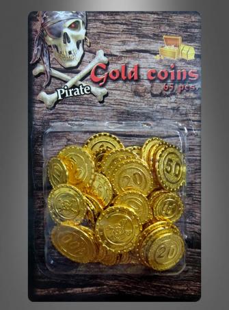 Goldmünzen Piraten Geld Schatz