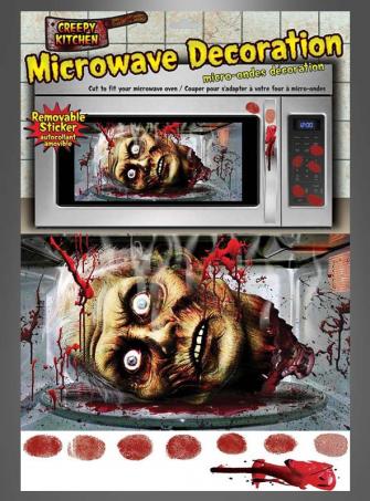 Mikrowelle Halloweendeko Sticker
