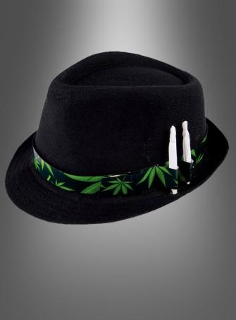 Cannabis Hut schwarz
