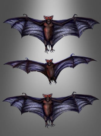 3-D Window Sticker Bats