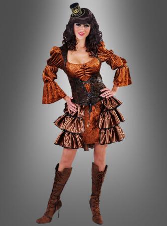 Steampunk Velvet Dress
