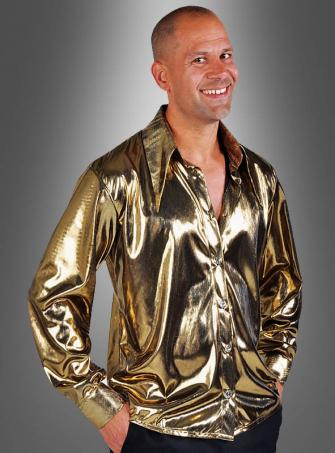 Disco Hemd gold für Herren