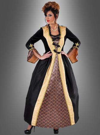 Baronin Kostüm schwarz