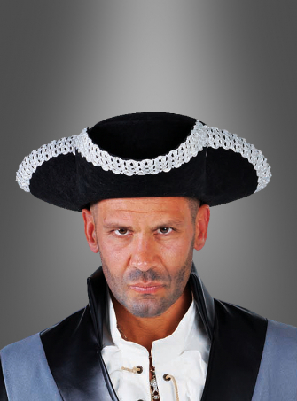 Tricorn with silverd border