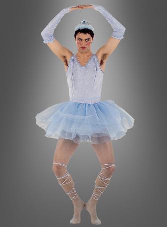 Blaues Ballerina Ballett Männerkostüm