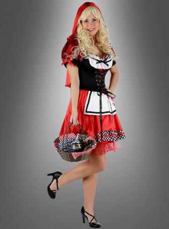Klassisches Rotkäppchen Damenkostüm