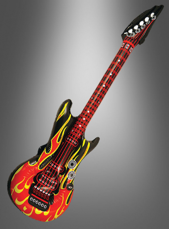 Luftgitarre Flammendesign