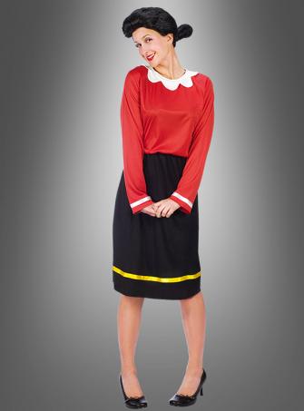 Olivia Kostüm mit Perücke aus Popeye