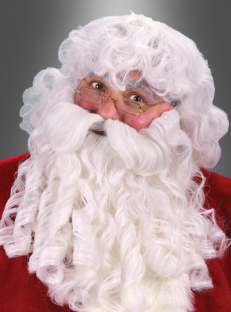 Deluxe Santa Nikolaus  Bart mit Perücke