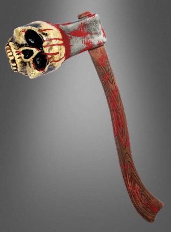 Bloody Axe with Skull