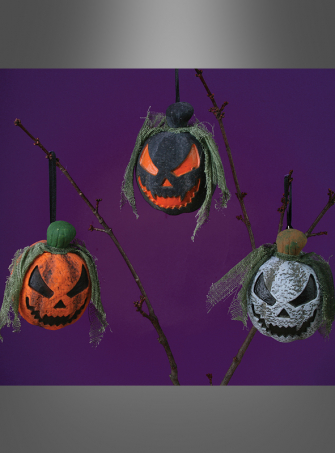 Mini Pumpkin Head Halloween Decoration