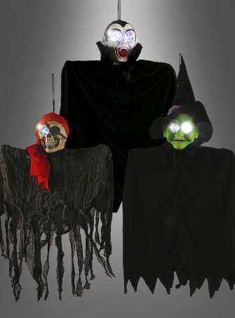 Halloweendeko Piraten-Skelett, Hexe oder Vampir