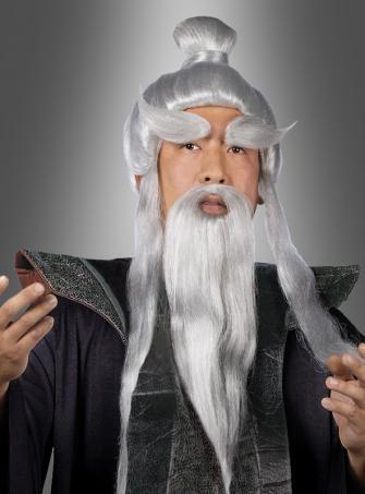 Sensei Samurai Perücke und Bartset