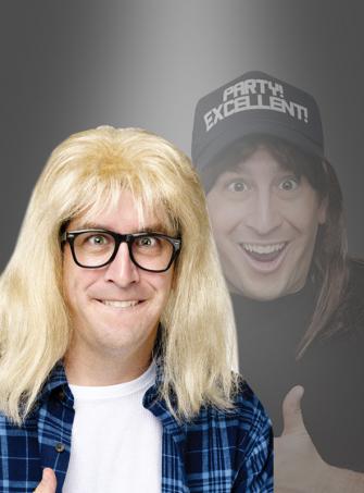 Garth Algar Perücke und Brille aus Waynes World