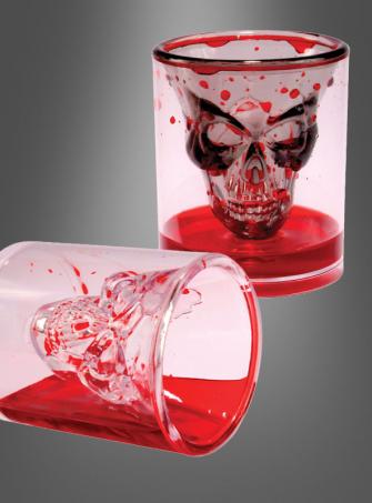 Blutiges Trinkglas Totenschädel