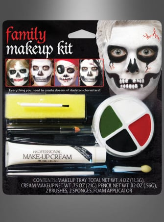 Skeleton Family Makeup Kit