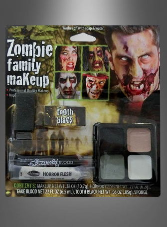 Family Zombie Makeup Set