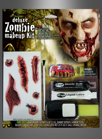 Deluxe Zombie Narben Make-up Set