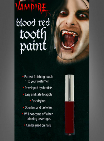 Blood red Tooth paint for Vampires