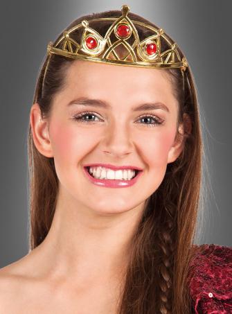 Goldene Krone für Königin Kostüm
