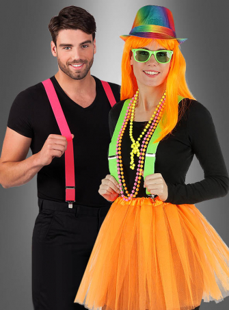 Stylish Suspenders Neon