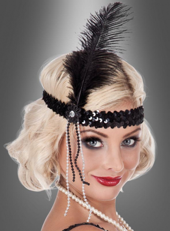 Charleston headband with feather