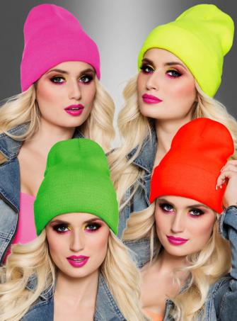 Beanie Mütze in coolen Neonfarben