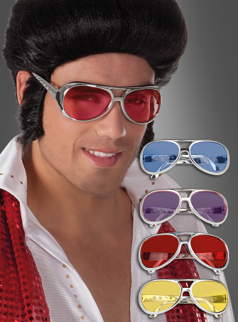 King of Rock Brille silber