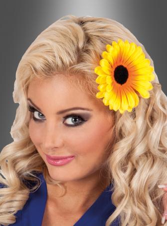 Haarspange Sonnenblume gelb