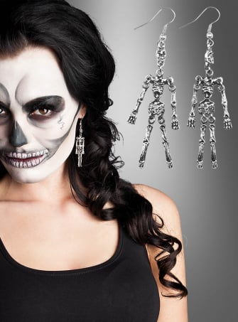 Earrings Skeleton Halloween Jewellry