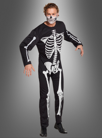Men Skeleton Costume Jumpsuit