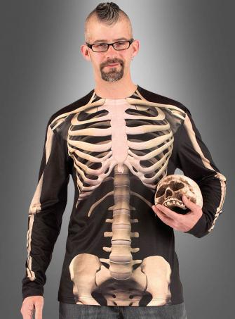 Skelett Langarmshirt